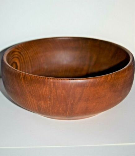 Vintage California Redwood Bowl. There are Two Labels on the Underside