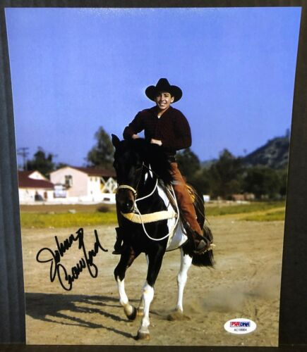 """JOHNNY CRAWFORD """"THE RIFLEMAN"""" SIGNED 8x10 PHOTO  AUTHENTIC PSA DNA REPRINT"""