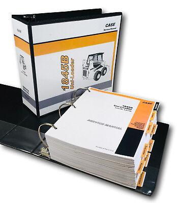 Case 1845b Uniloader Skidsteer Service Repair Technical Shop Manual In Binder