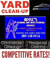 Residential, yard cleaning & auto detailing services