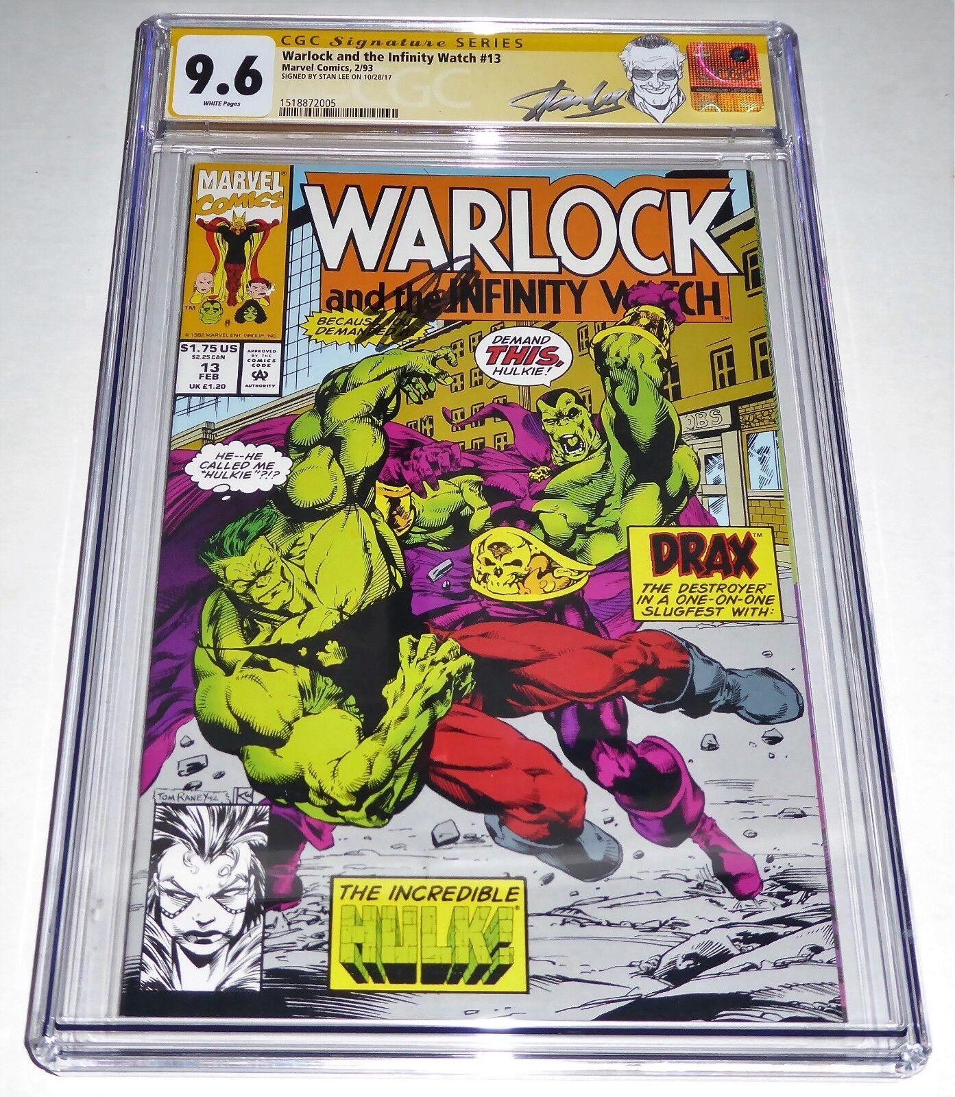 Warlock and the Infinity Watch #13 CGC SS Signature Autograph STAN LEE Hulk Drax
