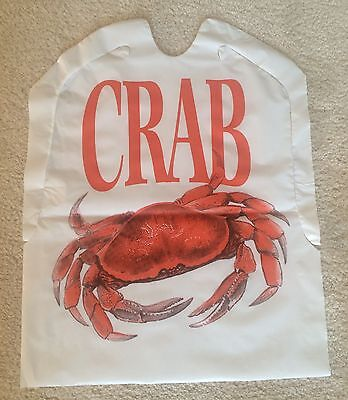 CRAB BIBS SET of 25 Disposable Plastic FREE SHIPPING Seafood Lobster Feast bake (Lobster Bib)