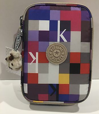 Kipling NEW!!! 100 PENS COSMETIC Pencil K SQUARED BERRY NWT AC7252 572