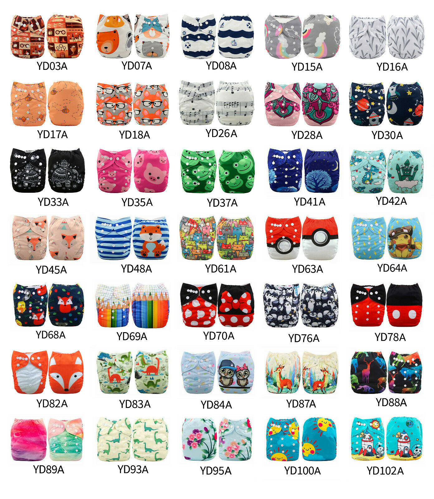 ALVA Baby Cloth Diapers Lot One Size Reusable Washable Pocke