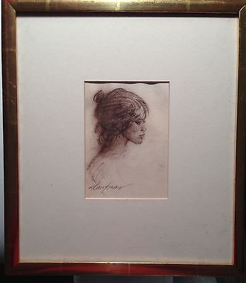 "drawing original pastel ""roma"" signed by stuart kaufman 1926-2008"
