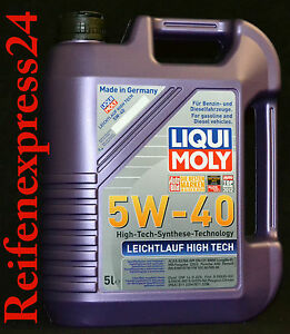 5 liter liqui moly leichtlauf high tech 5w 40 motor l 5w40. Black Bedroom Furniture Sets. Home Design Ideas