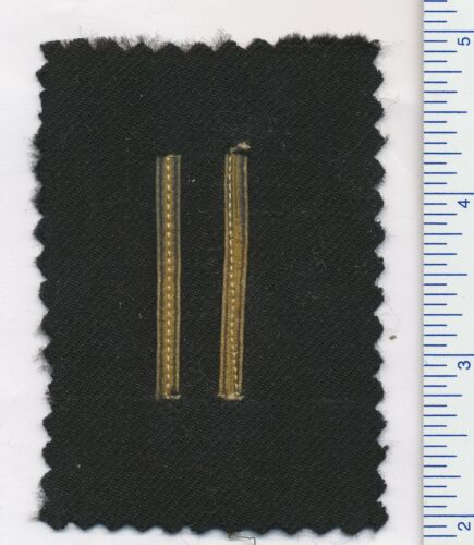 GREAT BRITAIN or CANADIAN NAVY OFFICER WOUND STRIPES gold wire on black (navy)