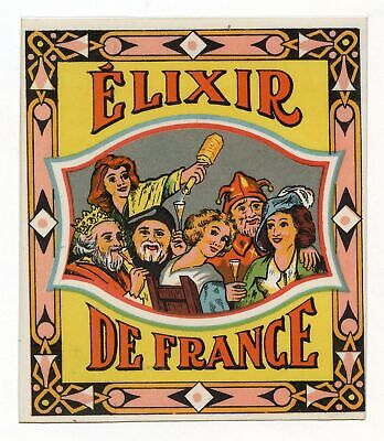 Vintage, Unused, French ELIXIR DE FRANCE Alcohol Bottle Label