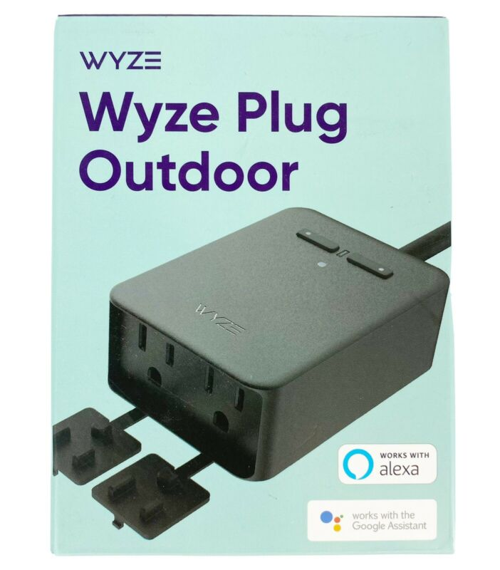 Wyze Plug Outdoor NEW SEALED (2 Plugs In 1) IP64 Weather Resistant Set Timers