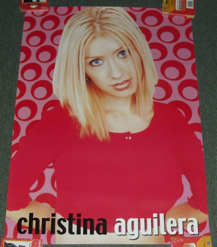 """1999 TEENAGER POSTER *Christina Aguilera* 24X34"""" WH23 GREAT COND!! M"""