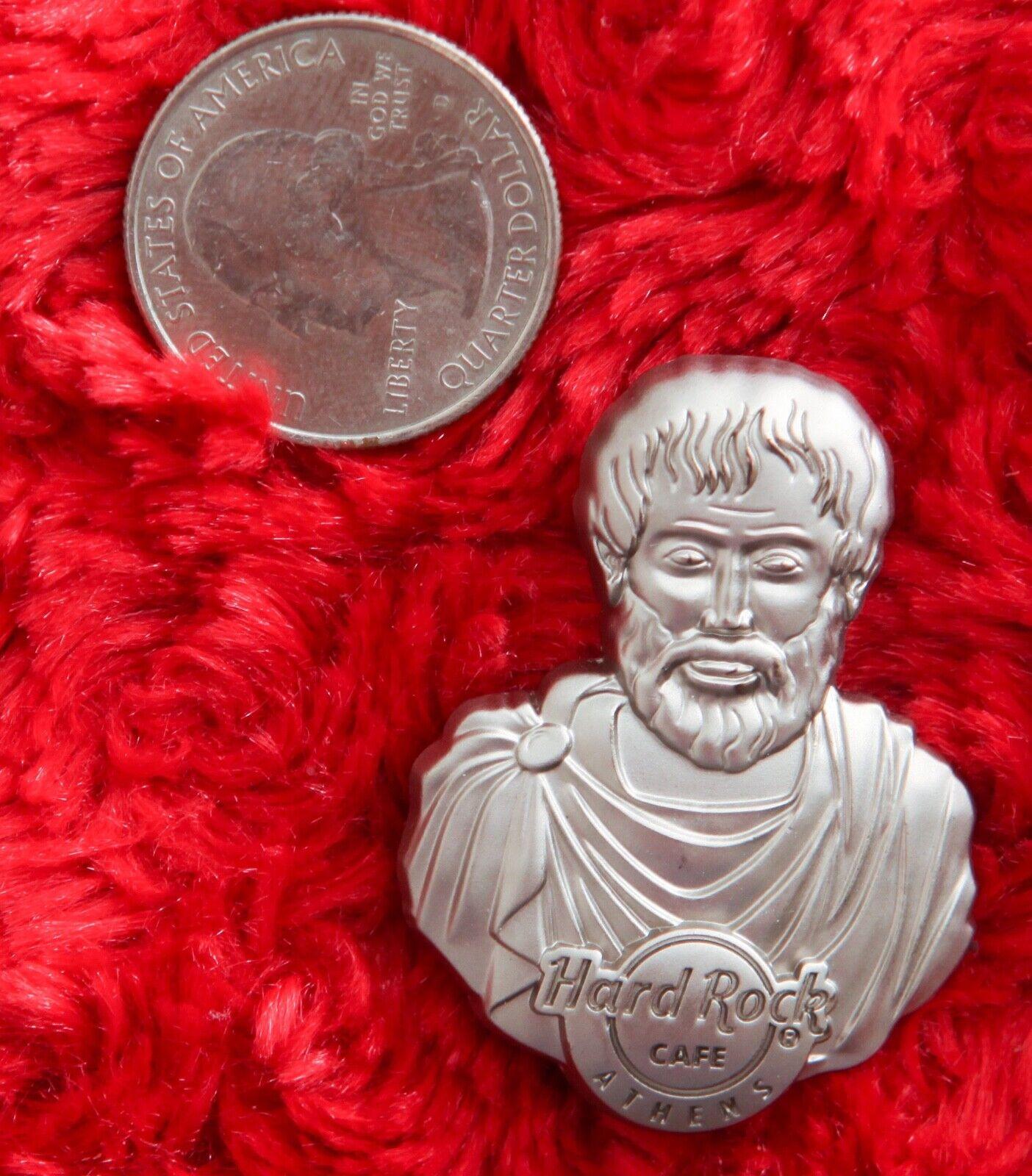 Hard Rock Cafe Pin ATHENS Greek Philosopher 3 Plato 3D Statue Bust Hat Lapel - $21.99