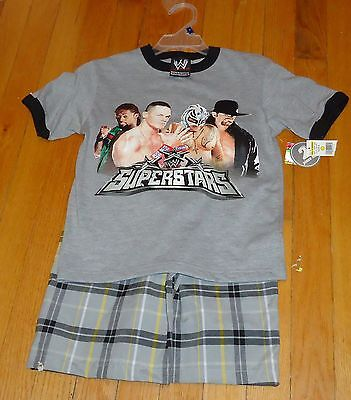 2007 WWF WWE Youth Small Wrestling Superstars Outfit John Cena Undertaker NWT - Wrestling Outfits Wwe