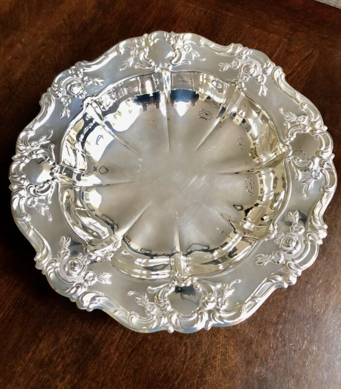 "Antique Yeoman Silver Plated Made In England 11"" Bowl"