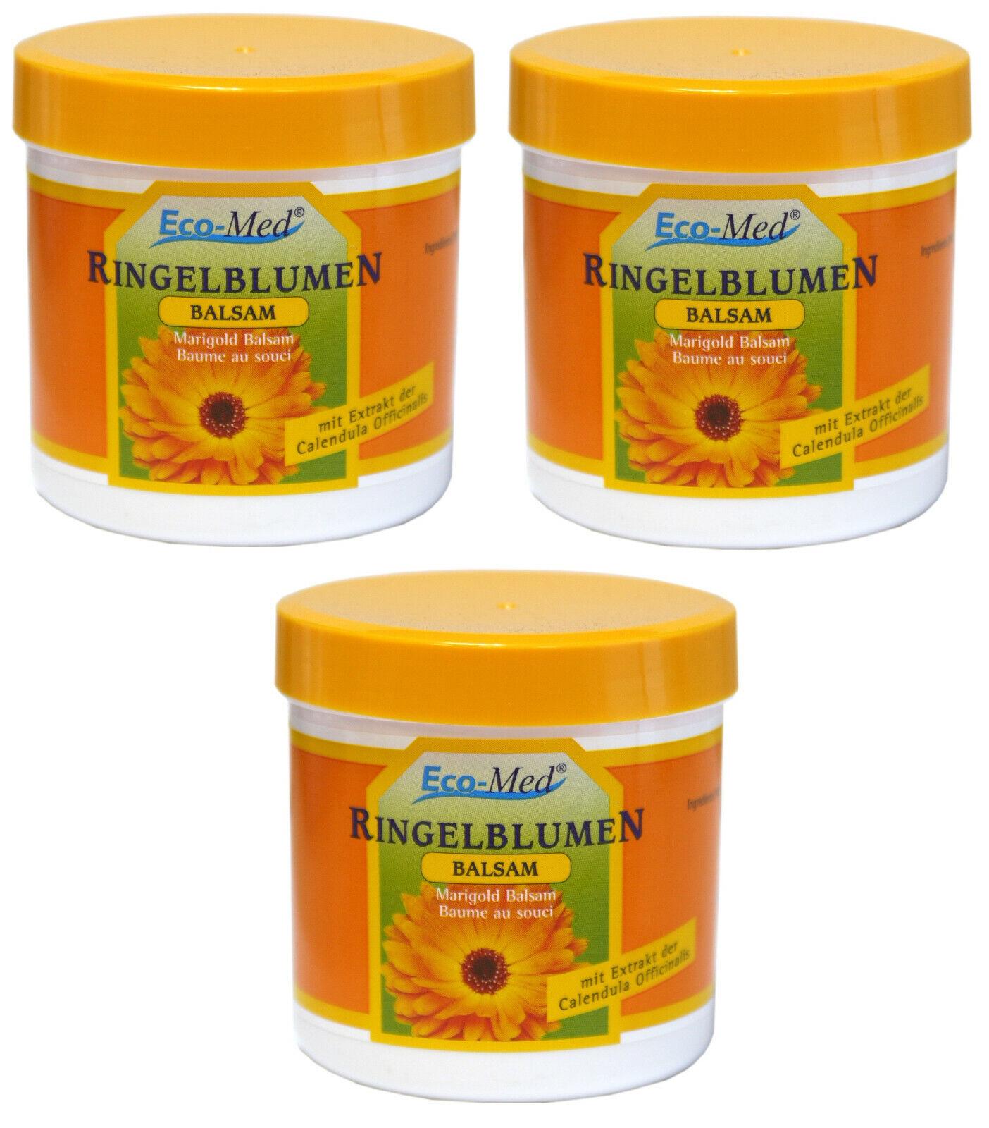 3 Dosen Ringelblumen Balsam Salbe Creme Hautpflege 3 x 250 ml (17.32€ /1L )
