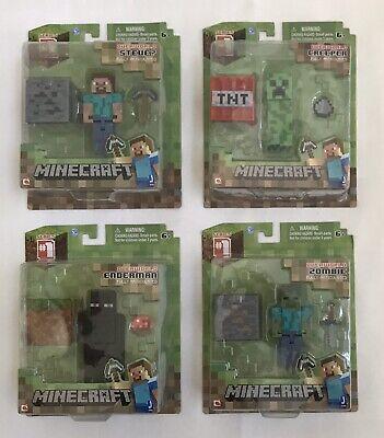 """Jazwares: Minecraft - Series 1 - 2.75"""" Figures - OVERWORLD - Complete Set - New"""