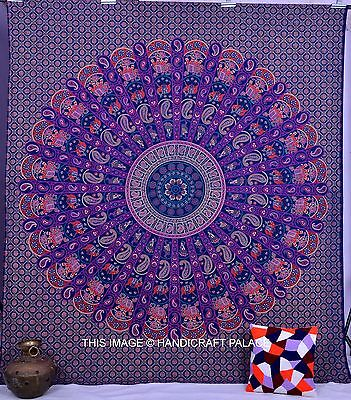 Indian Queen Tapestries Wall Hanging Mandala Throw Boho Paisley Print Bedspread