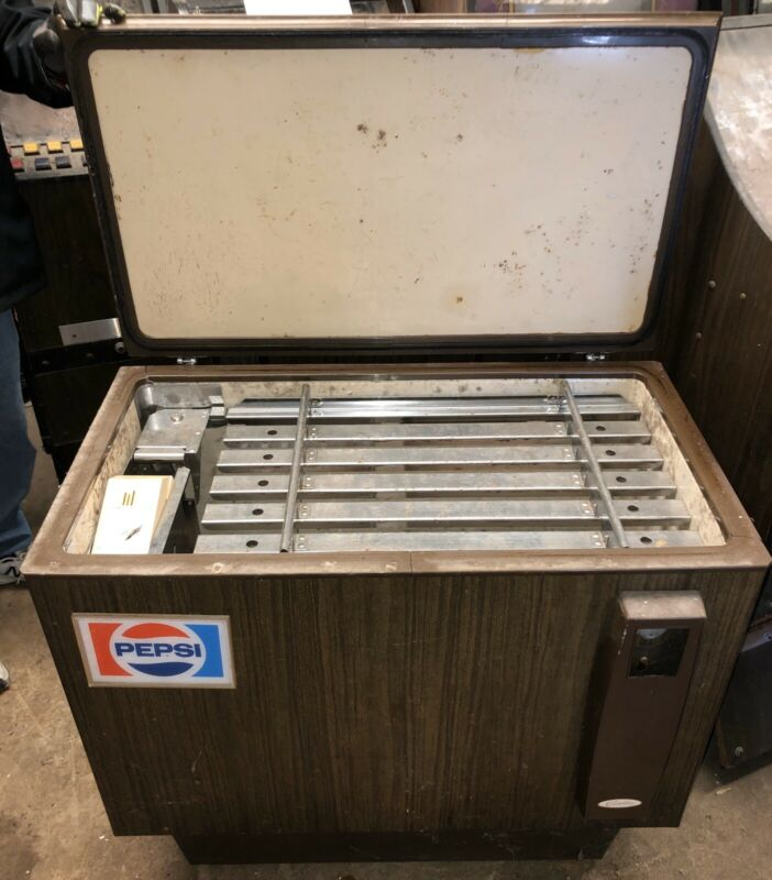 Vintage Coin-Operated Pepsi Bottle Cooler