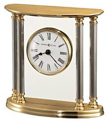 645-217  NEW ORLEANS, A SOLID BRASS TABLE CLOCK  BY HOWARD MILLER 645-217