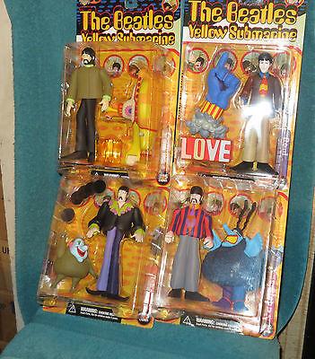 The Beatles Yellow Submarine Action Figure Set McFarlane Toys Series 1 (One) New