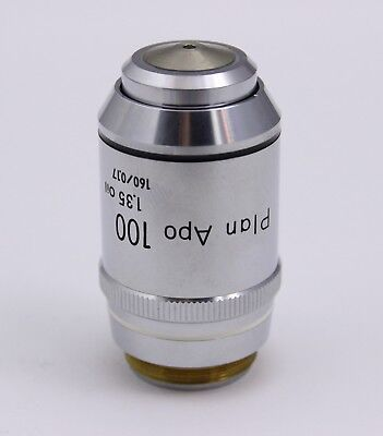 Nikon Plan Apo 100x 1.35 160mm Tl Microscope Objective Planapo