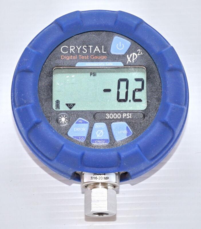 Crystal XP2i 3000psi Ex Digital Pressure Gauge Intrinsically Safe - 316 Marine