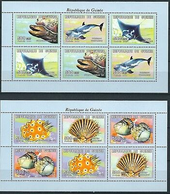GUINEA MEERESTIERE KLEINBOGENSATZ POSTFRISCH 1999 MI 2468 2473
