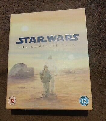 Star Wars - The Complete Saga (Blu-ray, 9-Disc Box Set) & Film cell.