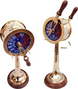 Antique Brass Ship's Engine Order Telegraph 14