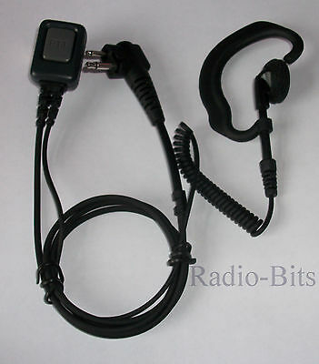 "Motorola HYT Two Pin ""G"" Shape Ear Hook Earpiece Microphone GP300 CP040 XTN446"
