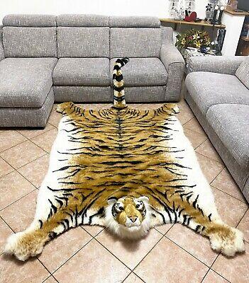 Gigante Tigre Marrone Pelle Tappeto in Peluche 200x135cm,Copridivano,Copriletto