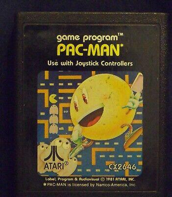 Pac-Man (Atari 2600, 1982) Cartridge+Manual New TESTED Works Perfectly