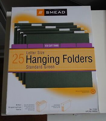 Smead Letter Size Green Hanging File Folders 15 Cut Tab Box Of 25 C15h