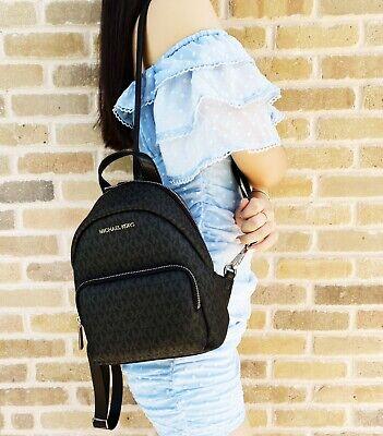 Michael Kors Erin Small Convertible Backpack Black MK Signature PVC Leather