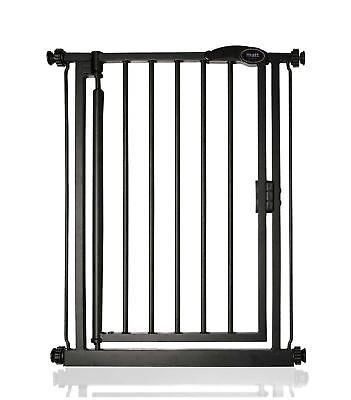 Bettacare Premium Extra Narrow Pressure Fit Dog Pet Gate Matt Black 61-66.5cm