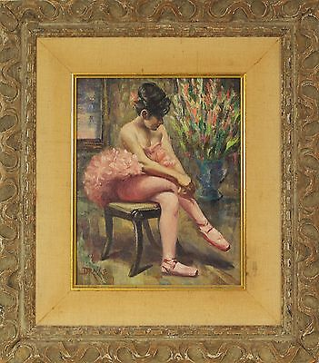 William Alexander Drake  Canadian 1891 1979  Oil Painting Ballerina Signed