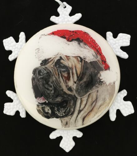 Mastiff Dog Original Art Christmas Ornament