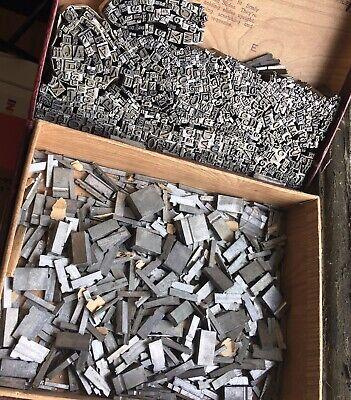 Vtg Mixed Lot Metal Newspaper Print Type Blocks Letters Numbers Spacers What U C