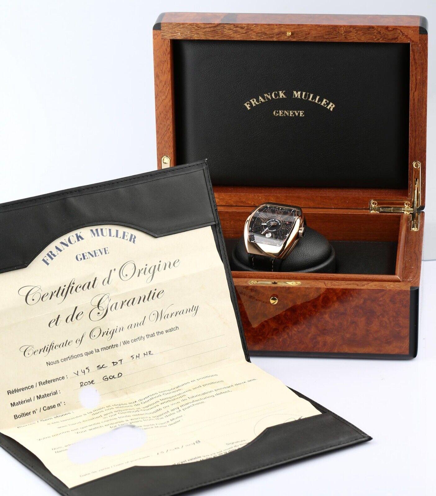 Franck Muller Vanguard Ref# V 45 SC DT 18k Rose Gold Automatic Wristwatch - watch picture 1