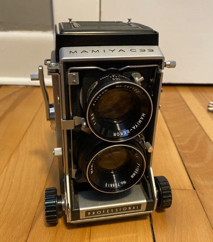 Vtg Mamiya C33 Professional Medium Format Film Camera 105mm Sekor Lens TESTED