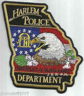 "Harlem, GA  ""Birthplace of Hardy"" (4"" x 4.75"" size) shoulder police patch (fire)"