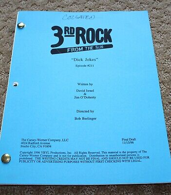 3RD ROCK FROM THE SUN  TV SERIES SHOW SCRIPT EPISODE  DICK (3rd Rock From The Sun Tv Series)