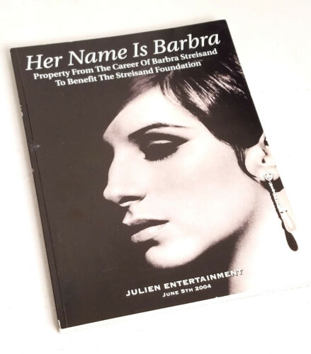 BARBARA STREISAND Julien Auction Catalog 2004 - Her Name is Barbara VERY GOOD