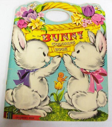 Vintage Dell 1962 EASTER Bunny Coloring Book -   READ DESCRIPTION