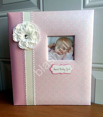 CR Gibson Pink White Flower BELLA Baby Girl Memory Keepsake Book Loose Leaf