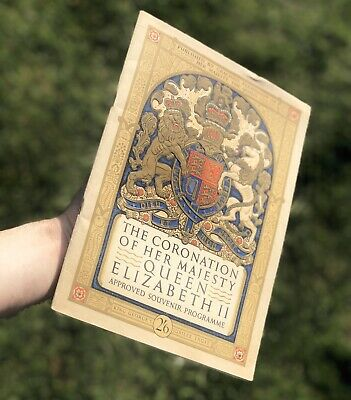 Queen Elisabeth II Coronation Souvenir Program