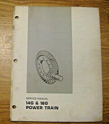 Vintage 1973 Caterpillar 14g 16g Power Train Service Manual
