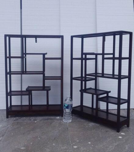 Pair Antique Chinese Hongmu wood display stand