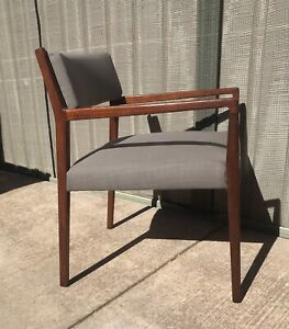 Mid Century Danish Jens Risom Style Armchair with New Upholstery