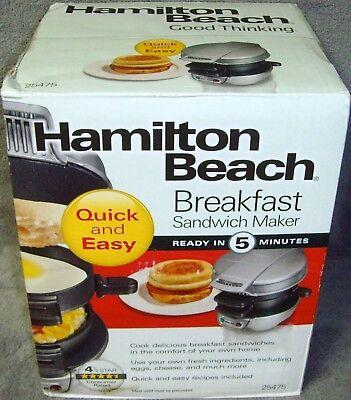 Brand New�Sealed Box�Hamilton Beach�Single�Breakfast Sandwich Maker�No. 25475