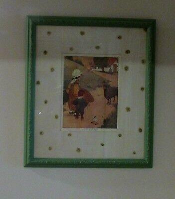 1916 Vintage Blanche Fisher Wright Baa, Baa Black Sheep Print Litho - $80.00